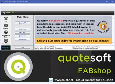 FabShop Custom Estimating Software